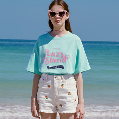(TS-20321) LAZY ISLAND T-SHIRT MINT