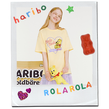 (TS-20332) ROLAROLA X HARIBO HEART T-SHIRT YELLOW