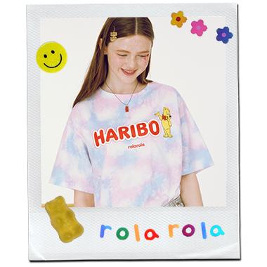 (TS-20337) ROLAROLA X HARIBO TIE-DYE T-SHIRT PINK