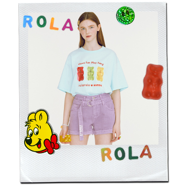 (TS-20335) ROLAROLA X HARIBO THREE JELLY T-SHIRT MINT