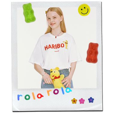 (TS-20331) ROLAROLA X HARIBO LOGO T-SHIRT WHITE