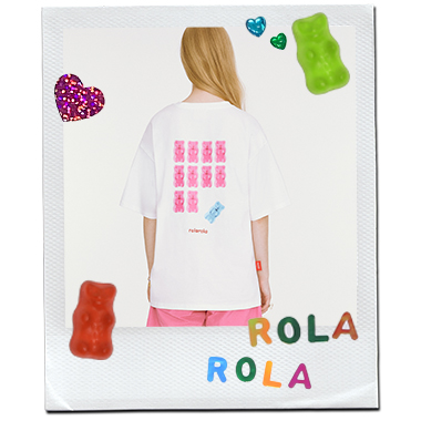 (TS-20336) ROLAROLA X HARIBO BACK JELLY T-SHIRT WHITE
