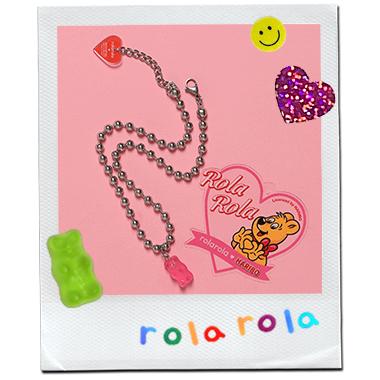 (LV-20341) ROLAROLA X HARIBO NECKLACE PINK