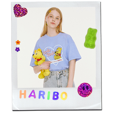 (TS-20338) ROLAROLA X HARIBO PIGMENT T-SHIRT LIGHT BLUE