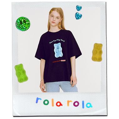 (TS-20334) ROLAROLA X HARIBO JELLY T-SHIRT BLACK