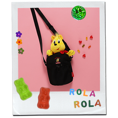 (BG-20331) ROLAROLA X HARIBO SHOULDER BAG BLACK
