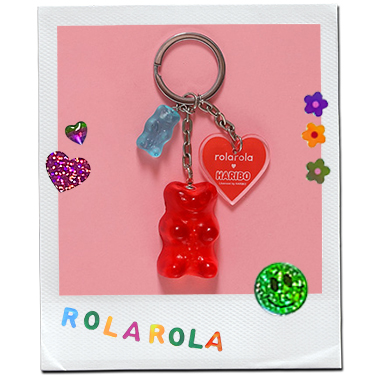 (LV-20338) ROLAROLA X HARIBO JELLY KEY RING RED