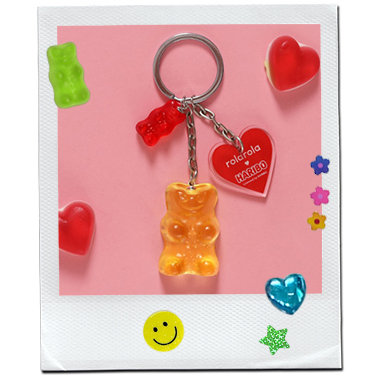 (LV-20338) ROLAROLA X HARIBO JELLY KEY RING YELLOW