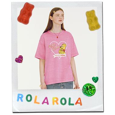 (TS-20338) ROLAROLA X HARIBO PIGMENT T-SHIRT PINK