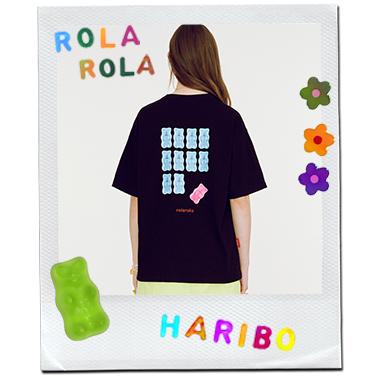 (TS-20336) ROLAROLA X HARIBO BACK JELLY T-SHIRT BLACK
