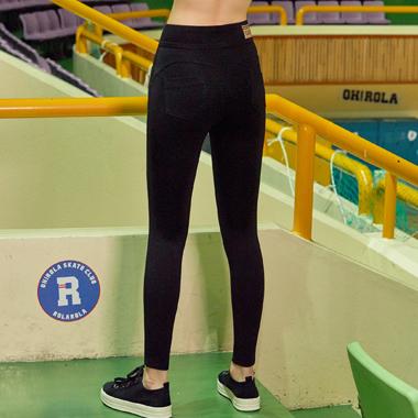 (PT-0024)HIGH WAIST LEGGINGS PANTS BLACK