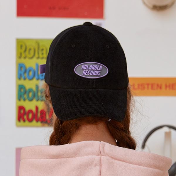 (CH-19501) CORDUROY CAP BLACK