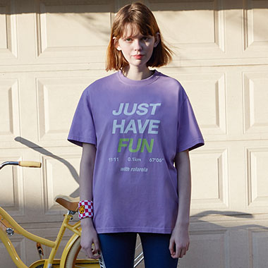 (TS-20153) JUST HAVE FUN T-SHIRT LAVENDER