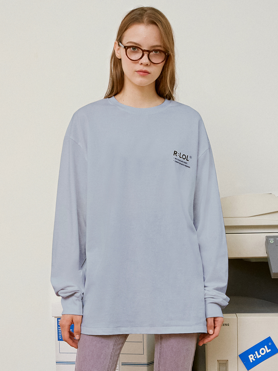 (TS-20728) R:LOL BASIC T-SHIRT BLUE