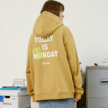 (HD-20722) R:LOL TODAY IS FRIDAY HOOD T-SHIRT OLIVE