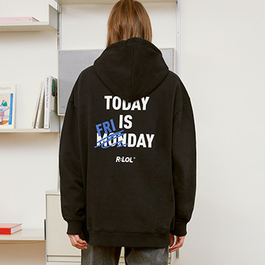 (HD-20722) R:LOL TODAY IS FRIDAY HOOD T-SHIRT BLACK