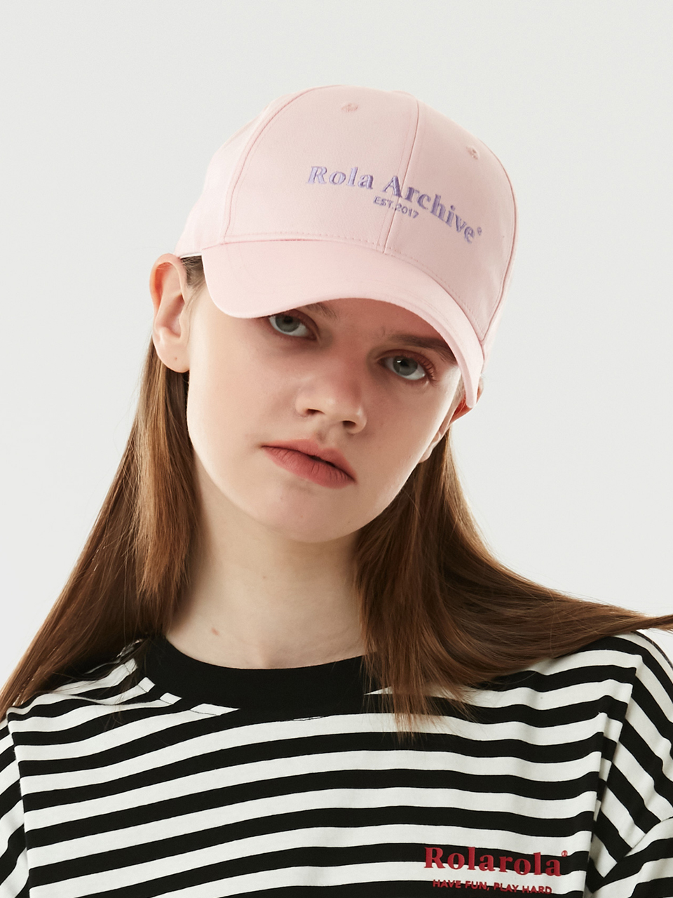 (CH-21101) ROLA ARCHIVE BALL CAP PINK