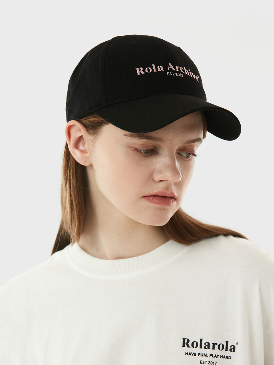 (CH-21101) ROLA ARCHIVE BALL CAP BLACK