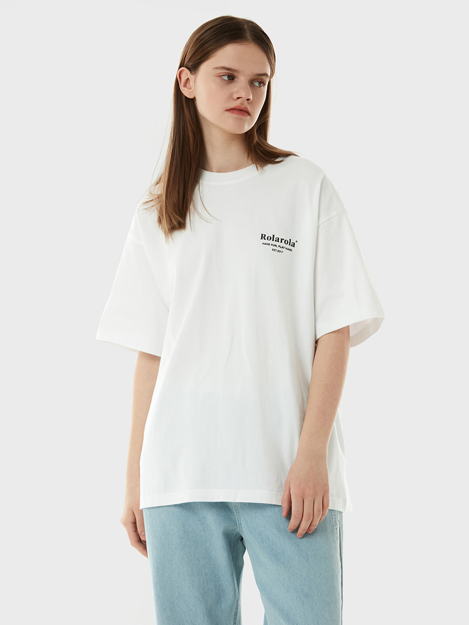 (TS-21302) SMALL LOGO T-SHIRT WHITE