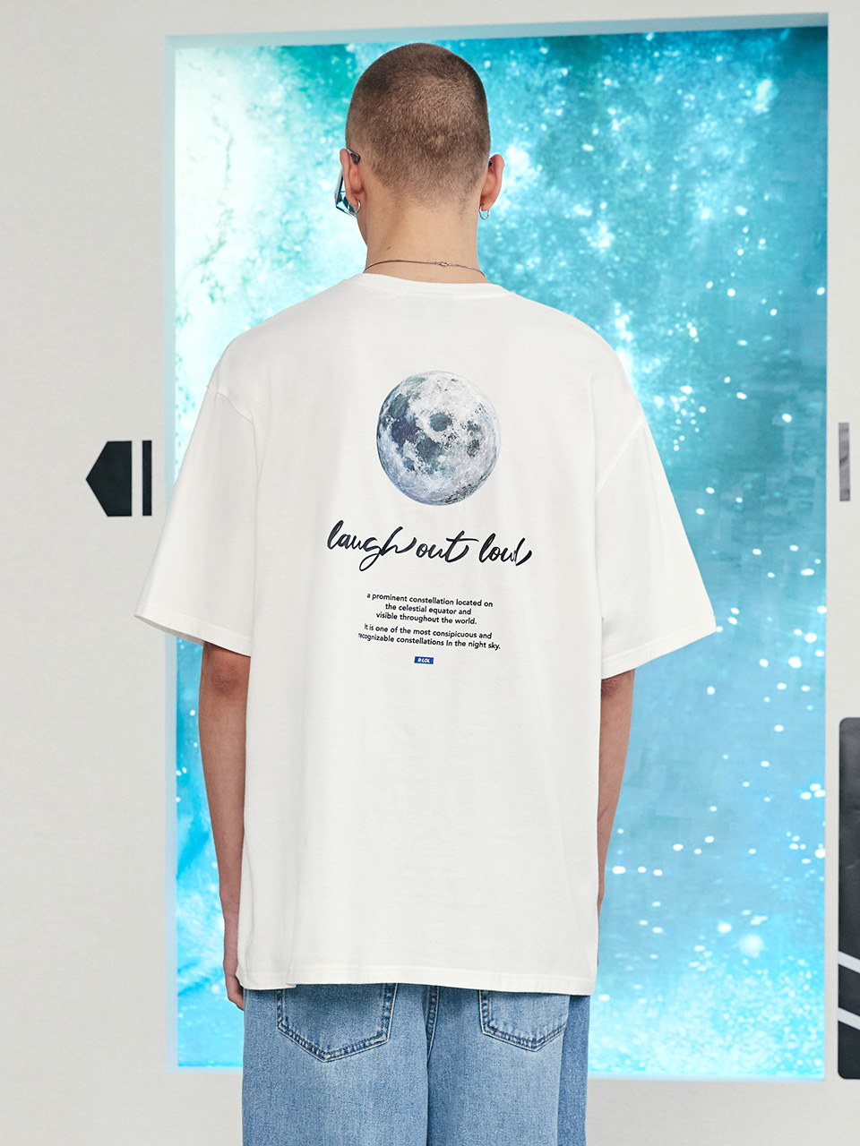 (TS-21325) R:LOL GRAPHIC BACK POINT T-SHIRT WHITE