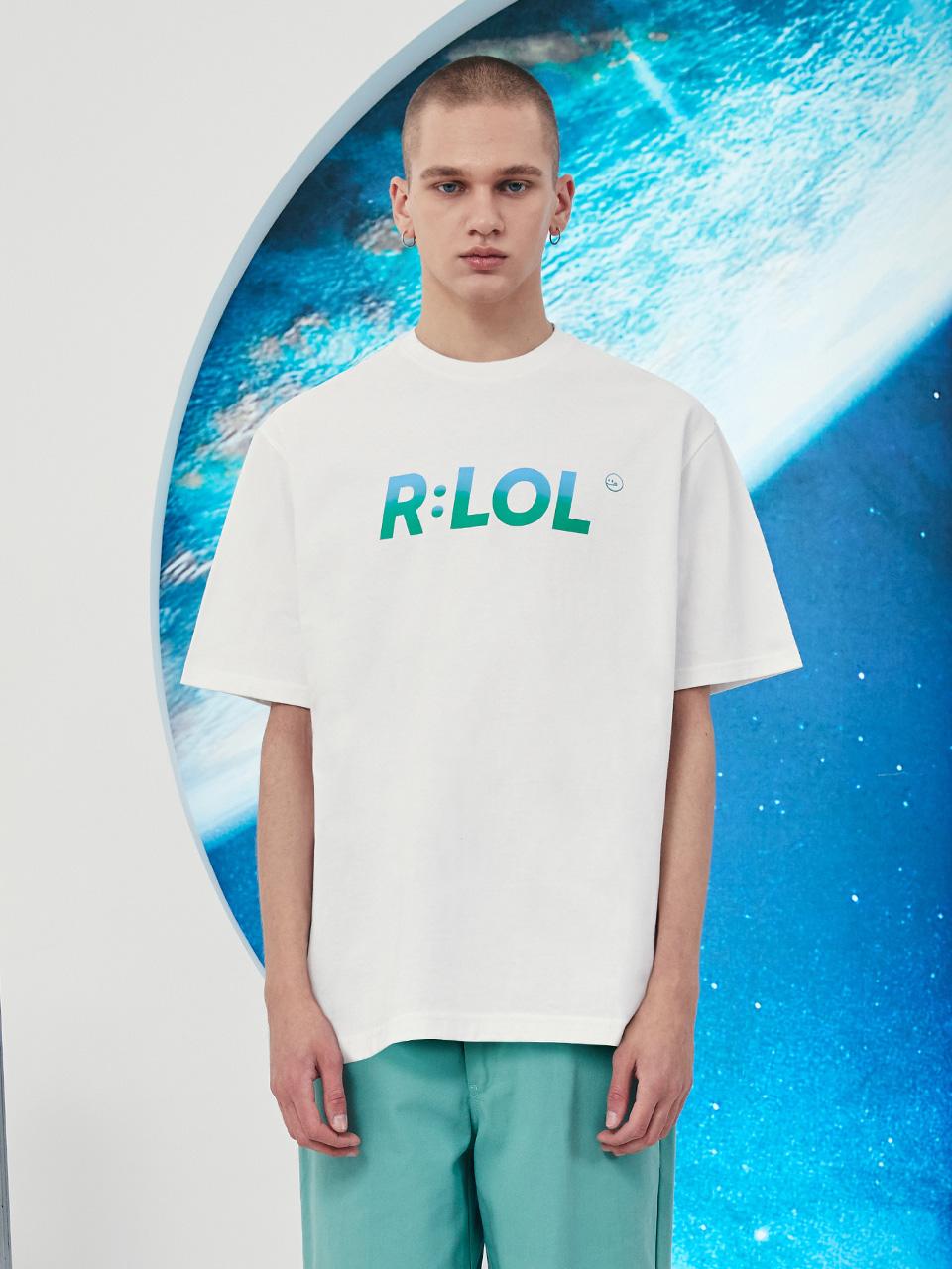 (TS-21321) R:LOL STITCH LOGO T-SHIRT WHITE